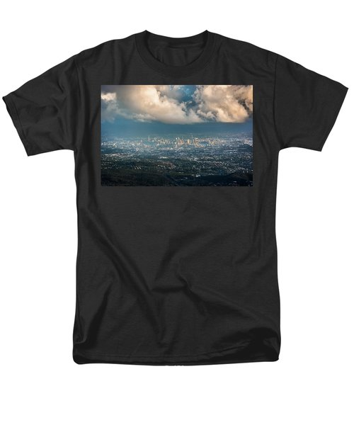 Men's T-Shirt  (Regular Fit) featuring the photograph Sunrise Over A Cloudy Brisbane by Parker Cunningham