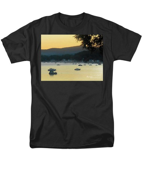Sunrise Over Malletts Bay Panorama - Nine V2 Detail Men's T-Shirt  (Regular Fit) by Felipe Adan Lerma
