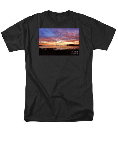 Men's T-Shirt  (Regular Fit) featuring the photograph Sunrise Over The Marsh by Larry Ricker