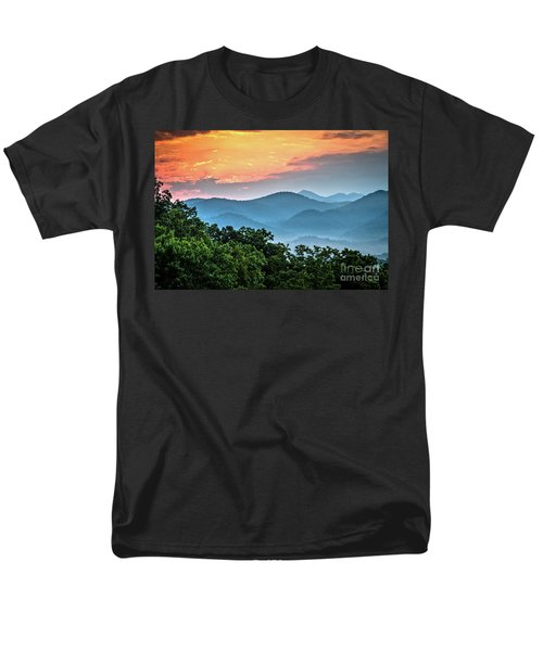 Men's T-Shirt  (Regular Fit) featuring the photograph Sunrise Over The Smoky's by Douglas Stucky