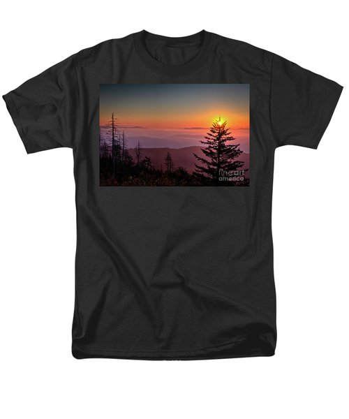 Men's T-Shirt  (Regular Fit) featuring the photograph Sunrise Over The Smoky's IIi by Douglas Stucky