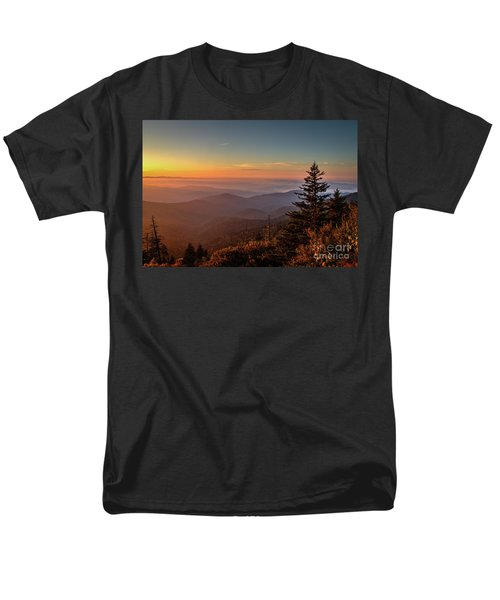 Men's T-Shirt  (Regular Fit) featuring the photograph Sunrise Over The Smoky's V by Douglas Stucky