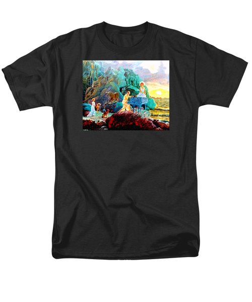 Men's T-Shirt  (Regular Fit) featuring the painting Sunrise Sonata by Henryk Gorecki
