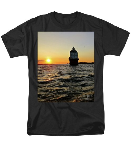 Men's T-Shirt  (Regular Fit) featuring the photograph Sunset At Baltimore Light  by Nancy Patterson