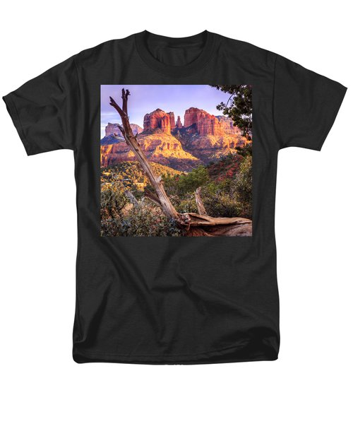 Sunset At Cathedral Rock Men's T-Shirt  (Regular Fit) by Alexey Stiop
