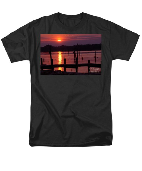 Sunset At Colonial Beach Men's T-Shirt  (Regular Fit) by Clayton Bruster