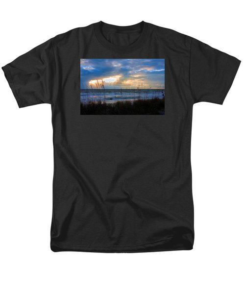 Sunset At Delnor Wiggins Pass State Park Men's T-Shirt  (Regular Fit) by Robb Stan