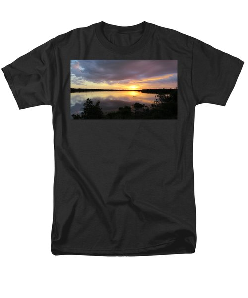 Sunset At Ding Darling Men's T-Shirt  (Regular Fit) by Melinda Saminski