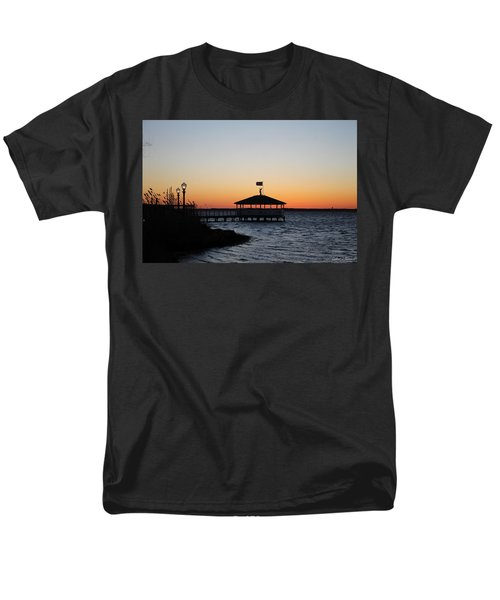 Sunset At Fagers Island Gazebo Men's T-Shirt  (Regular Fit)