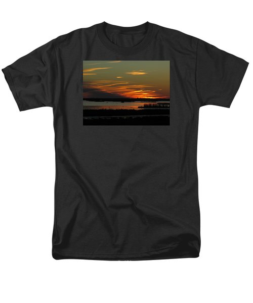 Sunset At Forsythe Reserve Men's T-Shirt  (Regular Fit) by Melinda Saminski