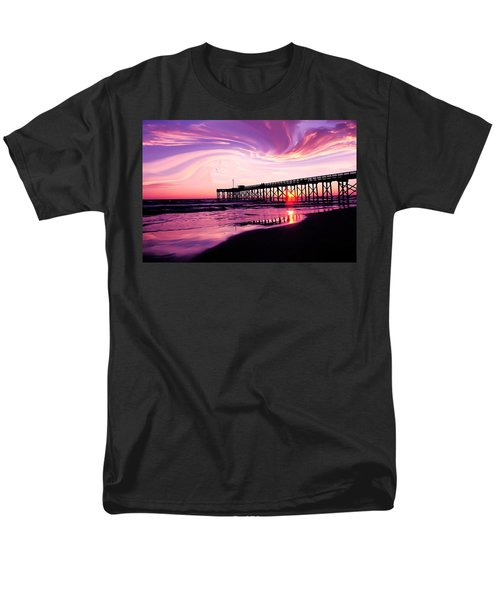 Men's T-Shirt  (Regular Fit) featuring the photograph Sunset At The Pier by Eddie Eastwood