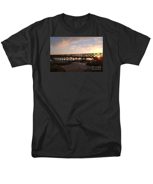 Sunset At The Wooden Bridge Men's T-Shirt  (Regular Fit) by Angelo DeVal