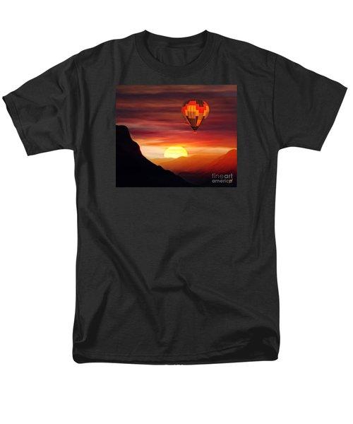 Sunset Balloon Ride Men's T-Shirt  (Regular Fit) by Zedi