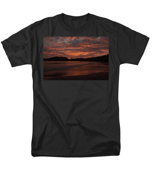 Men's T-Shirt  (Regular Fit) featuring the photograph Sunset Beach by Jim Walls PhotoArtist