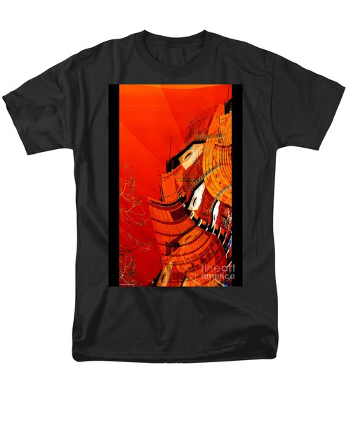 Sunset Building Men's T-Shirt  (Regular Fit) by Thibault Toussaint