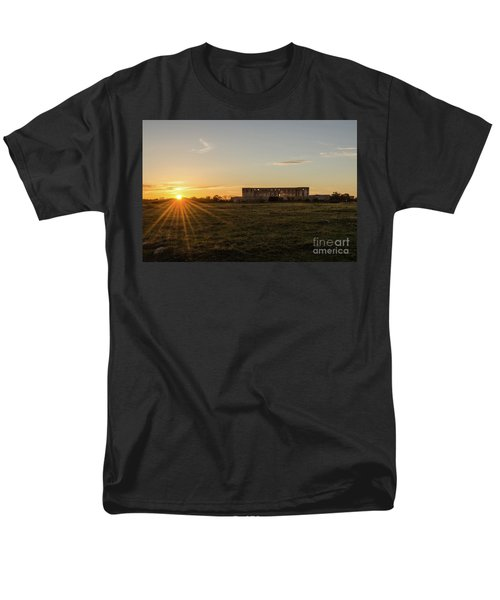 Sunset By Old Castle Ruin Men's T-Shirt  (Regular Fit) by Kennerth and Birgitta Kullman