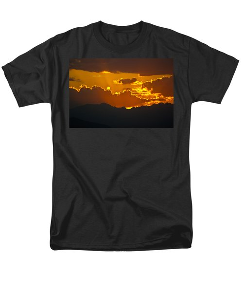 Men's T-Shirt  (Regular Fit) featuring the photograph Sunset Fire by Colleen Coccia