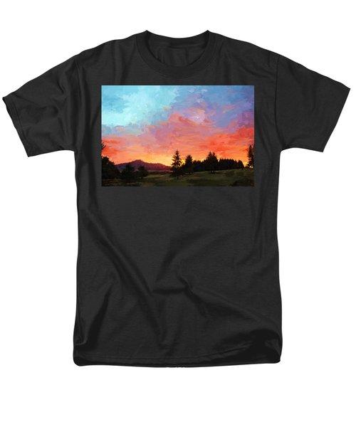 Sunset In Oregon Men's T-Shirt  (Regular Fit) by Debra Baldwin