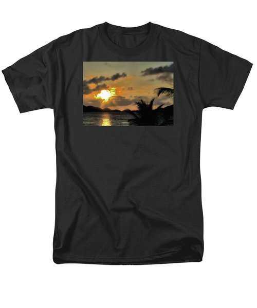 Men's T-Shirt  (Regular Fit) featuring the photograph Sunset In Paradise by Jim Hill
