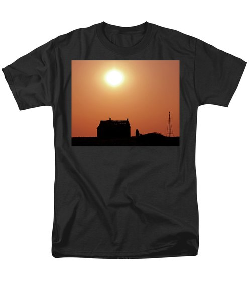Men's T-Shirt  (Regular Fit) featuring the photograph Sunset Lonely by Christopher McKenzie