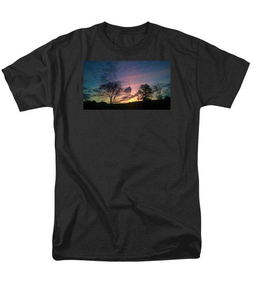 Sunset On Hunton Lane #12 Men's T-Shirt  (Regular Fit) by Carlee Ojeda