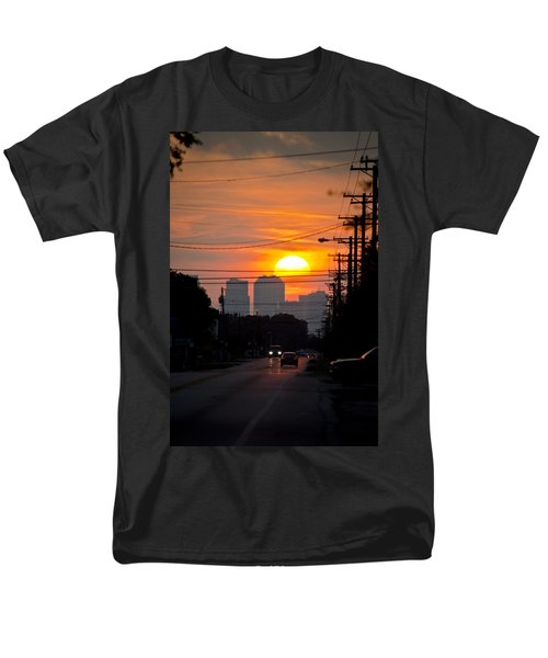 Sunset On The City Men's T-Shirt  (Regular Fit) by Carolyn Marshall