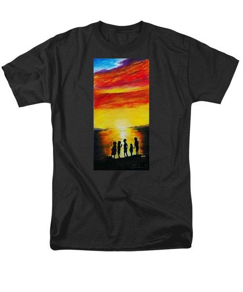 Sunset On The Great Salt Lake Men's T-Shirt  (Regular Fit) by Sherril Porter