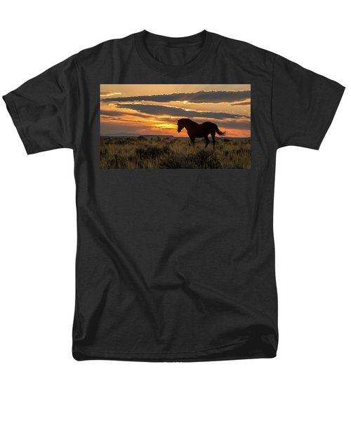 Sunset On The Mustang Men's T-Shirt  (Regular Fit) by Jack Bell