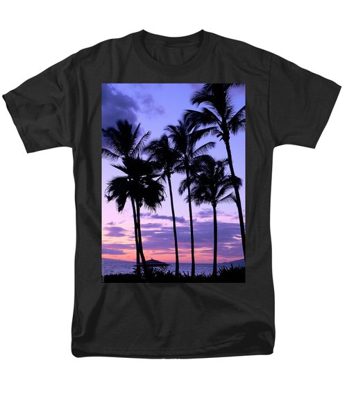 Men's T-Shirt  (Regular Fit) featuring the photograph Sunset On The Palms by Debbie Karnes