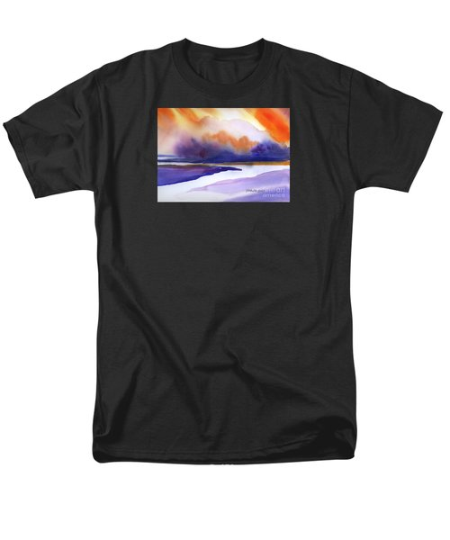 Men's T-Shirt  (Regular Fit) featuring the painting Sunset Over Marsh by Yolanda Koh
