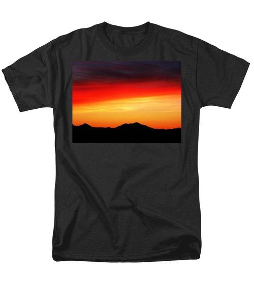 Men's T-Shirt  (Regular Fit) featuring the photograph Sunset Over Santa Fe Mountains by Joseph Frank Baraba