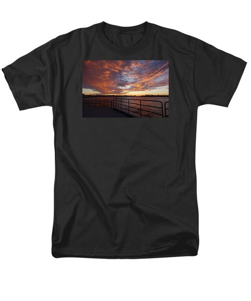 Sunset Over The Manasquan Inlet 2 Men's T-Shirt  (Regular Fit) by Melinda Saminski