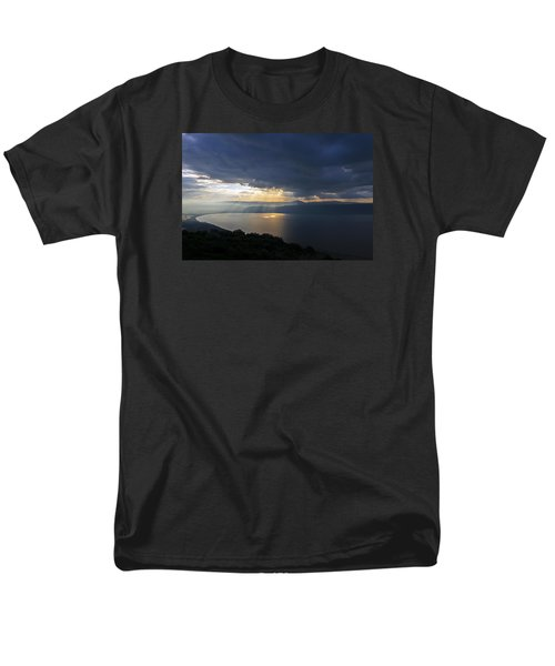 Men's T-Shirt  (Regular Fit) featuring the photograph Sunset Over The Sea Of Galilee by Dubi Roman