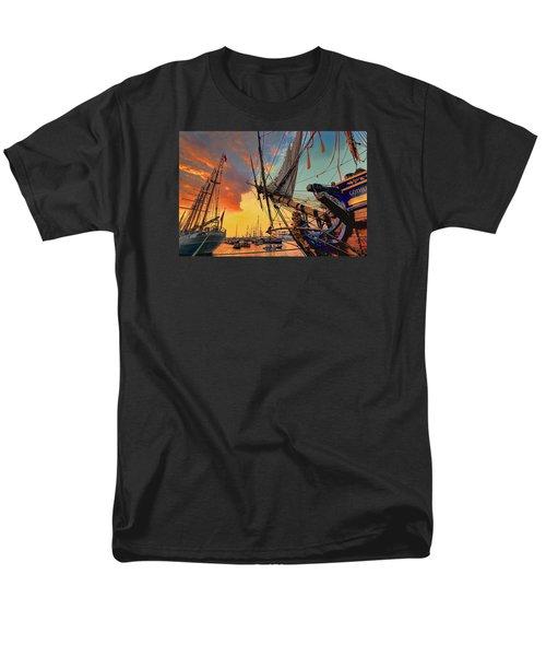 Sunset Sail Men's T-Shirt  (Regular Fit) by Nadia Sanowar