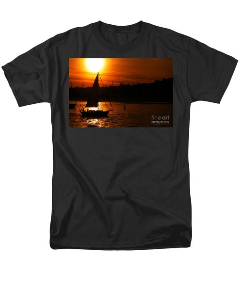 Sunset Sailing Men's T-Shirt  (Regular Fit) by Clayton Bruster