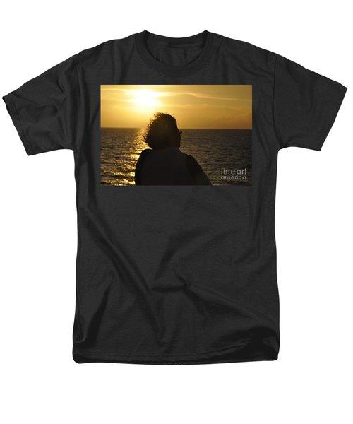 Men's T-Shirt  (Regular Fit) featuring the photograph Sunset Silhouette by John Black