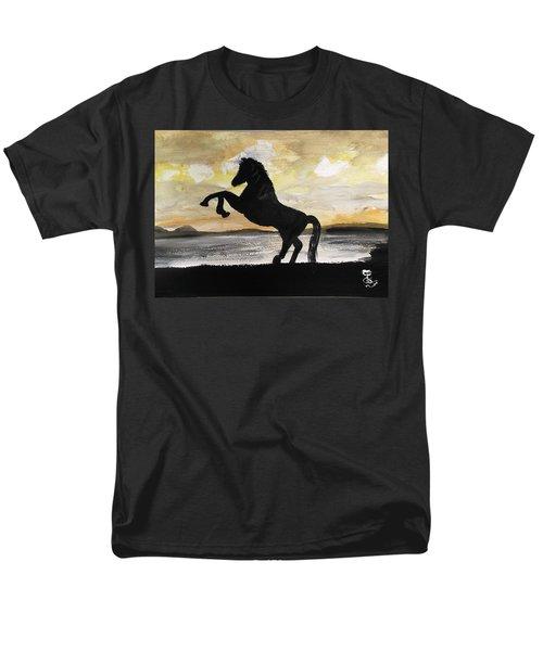 Sunset Stallion Men's T-Shirt  (Regular Fit) by Carole Robins