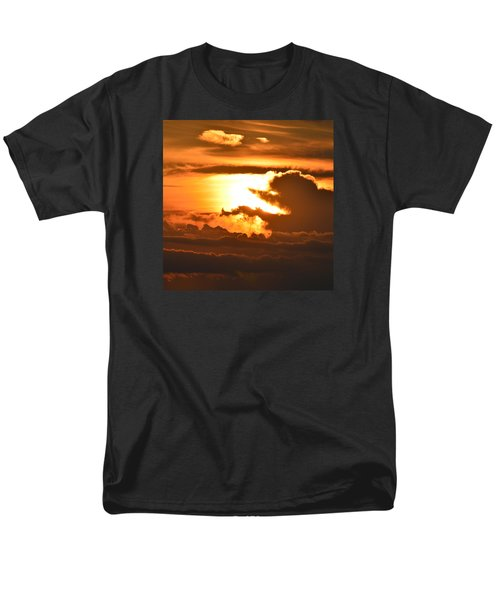 Men's T-Shirt  (Regular Fit) featuring the photograph Sunset Storm Clouds 2  by Lyle Crump