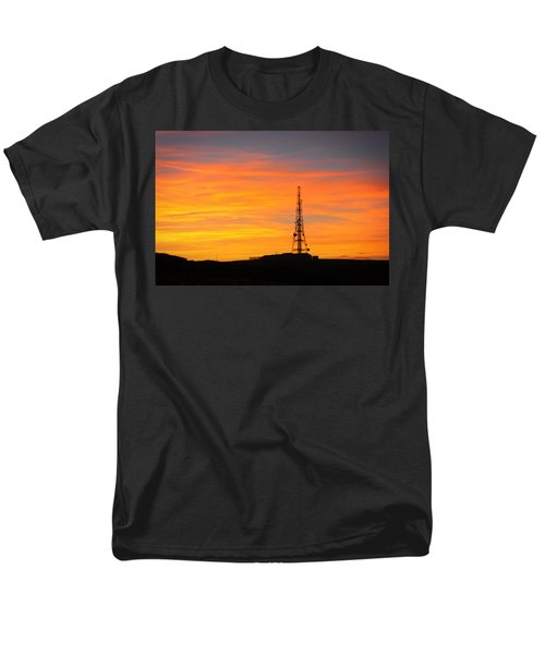 Men's T-Shirt  (Regular Fit) featuring the photograph Sunset Tower by RKAB Works