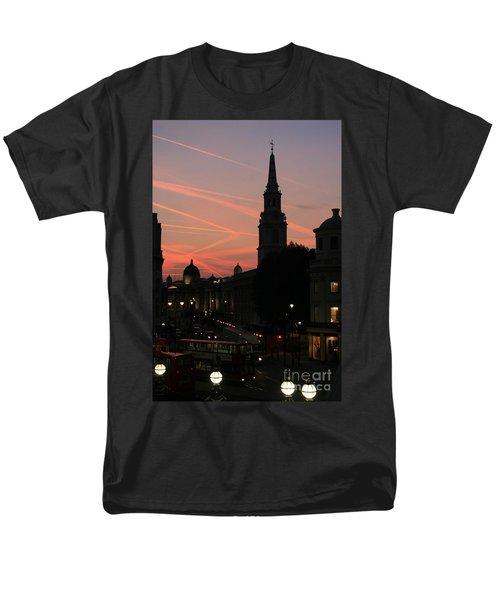 Sunset View From Charing Cross  Men's T-Shirt  (Regular Fit) by Paula Guttilla