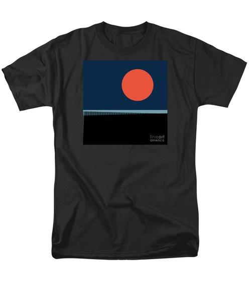 Men's T-Shirt  (Regular Fit) featuring the digital art Supermoon Over The Sea by Klara Acel