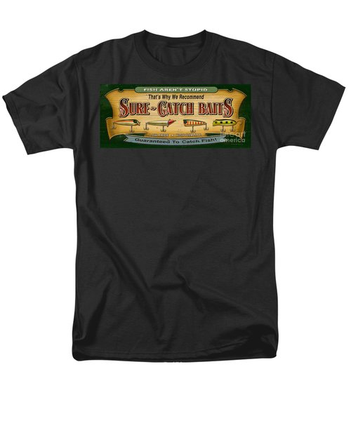 Men's T-Shirt  (Regular Fit) featuring the painting Sure Catch Baits Sign by Jon Q Wright