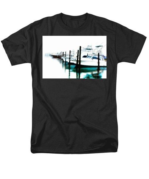 Surreal Fishing Boats In Outer Banks Marina Ap Men's T-Shirt  (Regular Fit) by Dan Carmichael