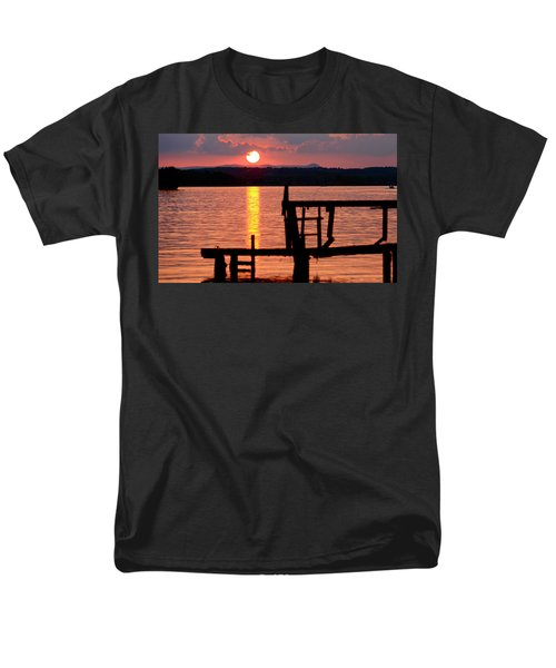 Surreal Smith Mountain Lake Dockside Sunset 2 Men's T-Shirt  (Regular Fit) by The American Shutterbug Society