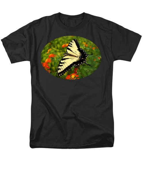 Men's T-Shirt  (Regular Fit) featuring the photograph Swallowtail Among Lantana by Sue Melvin