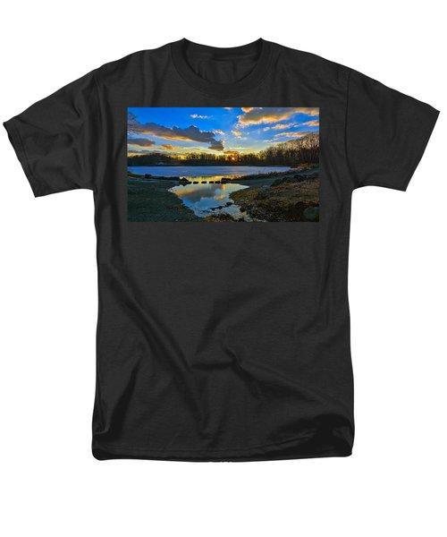 Swan Lake Sunset Men's T-Shirt  (Regular Fit) by Jeffrey Friedkin