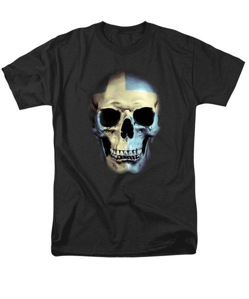 Men's T-Shirt  (Regular Fit) featuring the digital art Swedish Skull by Nicklas Gustafsson