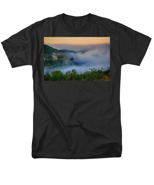 Men's T-Shirt  (Regular Fit) featuring the photograph Switchbacks In The Clouds by Joseph Hollingsworth