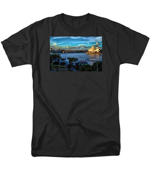 Sydney Harbor And Opera House Men's T-Shirt  (Regular Fit) by Diana Mary Sharpton