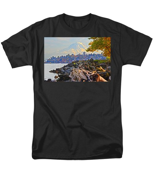 Men's T-Shirt  (Regular Fit) featuring the photograph Tacoma In The Fall by Jack Moskovita